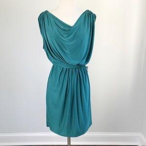 Lord & Taylor Max and Cleo Aqua Green Drape Dress
